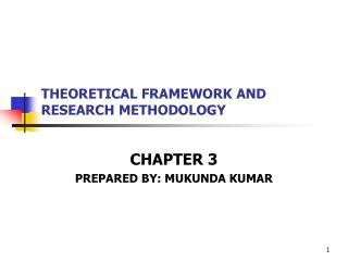 What is the difference between theoretical framework and